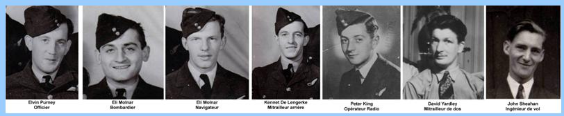crew of JA712-BQ-H, fallen to Rebecq, on May 28th 1944